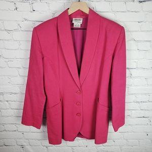 Brass Plum Vintage 80s Bright Pink Blazer
